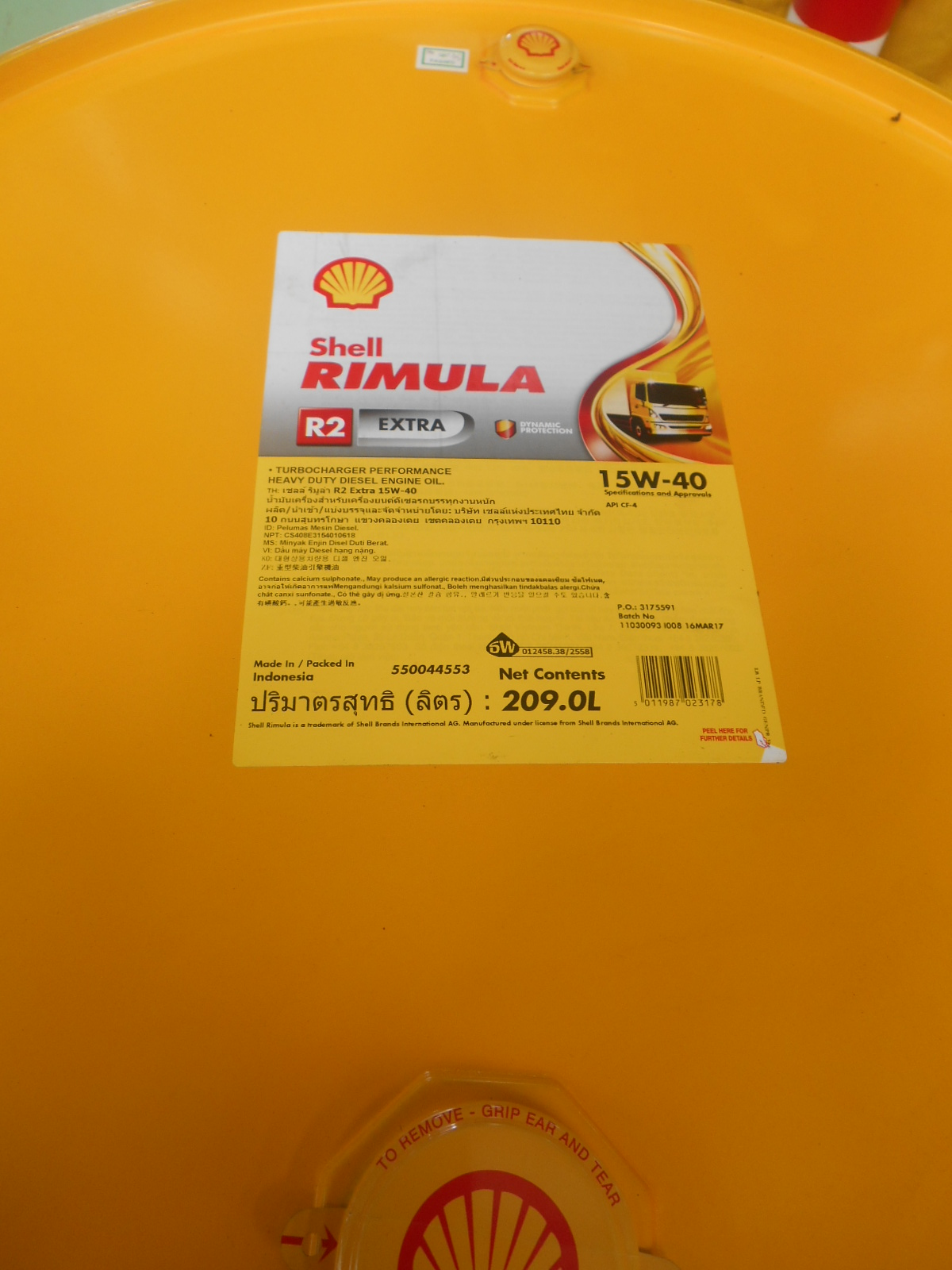 Sae 30 Oil >> Shell Rimula R2 Extra 15W - 40 209 L (1 Drum) - Sejahtera ...