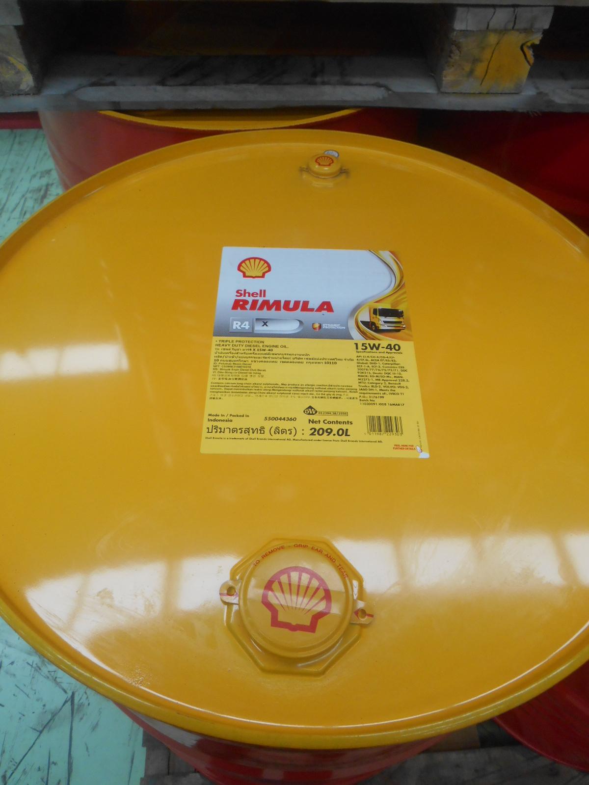 15w40 Diesel Oil >> Shell Rimula R4 X 15W - 40 209 L (1 Drum) - Sejahtera Oil, Distributor Oli Shell Helix ...