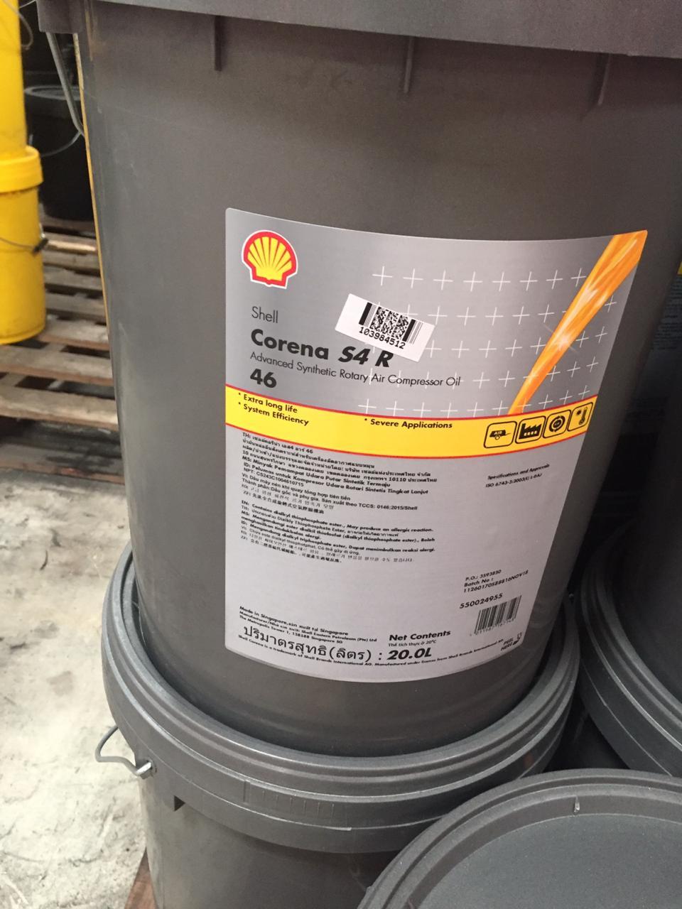 Shell Corena S4 R 46 20 L 1 Pail Compressor Oil