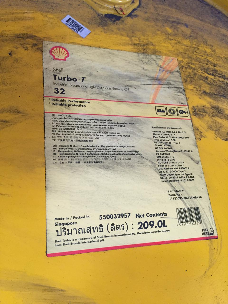Shell Turbo T-32 209 L (1 Drum)